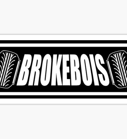 BrokeBois Slap Sticker - Black Sticker