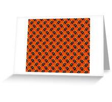 Ribbon Black Cat Pattern Greeting Card