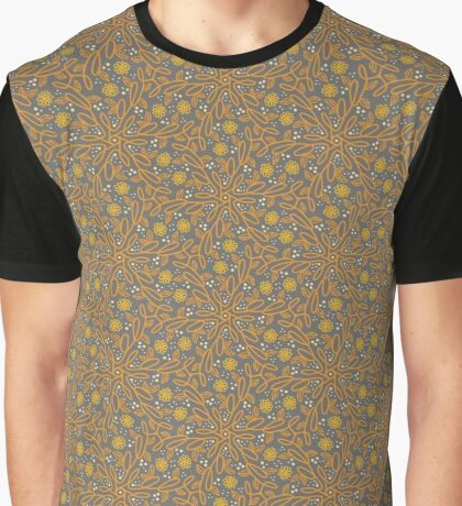 Fancy Floral Pattern Graphic T-Shirt