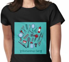 Barber and Hairdresser Tools Set Womens Fitted T-Shirt