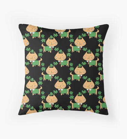 Silly Lucky Cat Pattern Throw Pillow