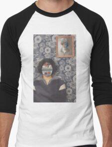 Mirrored on Wall Men's Baseball ¾ T-Shirt
