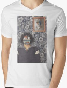 Mirrored on Wall Mens V-Neck T-Shirt