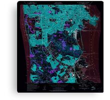 USGS TOPO Map California CA San Francisco South 300068 1956 24000 geo Inverted Canvas Print