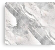 Castello - silver marble Canvas Print