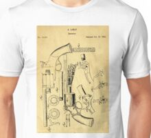 Revolver Support Patent Drawing From 1856  Unisex T-Shirt