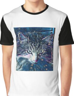 Midnight Cat Graphic T-Shirt