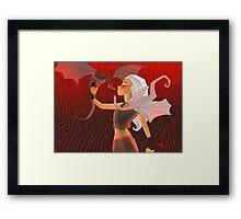 Daenerys Targaryen Illustration Framed Print
