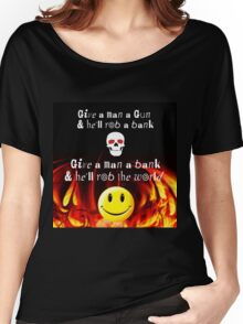 GIVE A MAN A BANK Women's Relaxed Fit T-Shirt