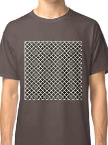 Trellis,black,white,modern,trendy,interlaced,contemporary,geomtric,pattern Classic T-Shirt