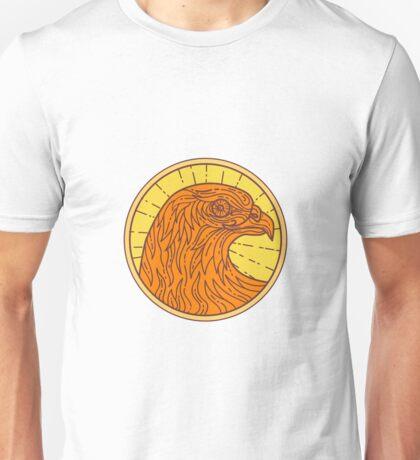 Hawk Eye Side Circle Mono Line Unisex T-Shirt