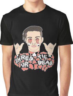 Shred Til Ur Dead | Getter | Black Graphic T-Shirt