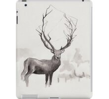Art Illustration - Deer in the fog iPad Case/Skin