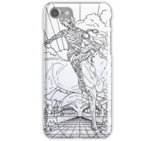 Pointing Elf Jester On A Unicorn, drawing.... iPhone Case/Skin