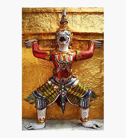 Guardian of Wat Pho in Bangkok, Thailand Photographic Print