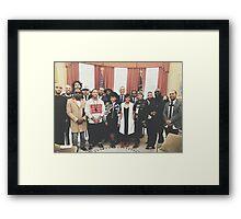 Obama x Hip Hop Framed Print