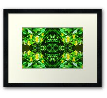 Tropical Flower - pattern Framed Print