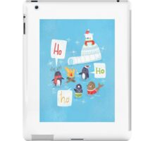 Penguins & Igloos Holiday Card iPad Case/Skin