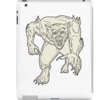 Werewolf Monster Running Mono Line iPad Case/Skin