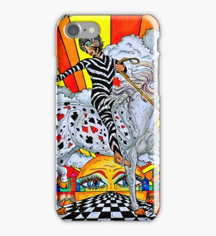 Pointing Elf Jester On A Unicorn iPhone Case/Skin