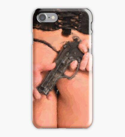 Girls and Guns... Digital Painting iPhone Case/Skin