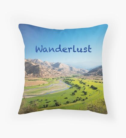 Wanderlust - Travel, Dream, Holidays, Nature, Landscape, Hike, Discover Throw Pillow