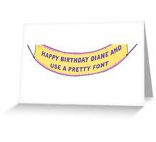 Bojack Horseman Birthday Banner Greeting Card
