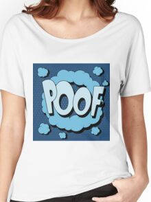 Bubble with Expression Poof in Vintage Comics Style Women's Relaxed Fit T-Shirt