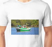 White And Green Boat Unisex T-Shirt