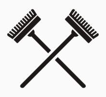 Crossed broom by Designzz