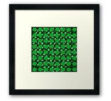Shades of Green Shamrocks Framed Print