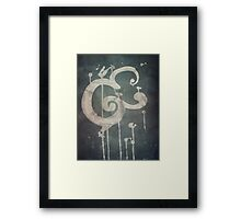 Ampersand in Blue : v.01 Framed Print
