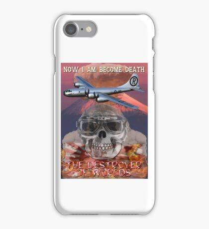 I am become Death The Destroyer of Worlds iPhone Case/Skin
