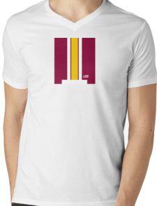 Skins Helmet Stripe Mens V-Neck T-Shirt