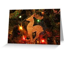Gold Nosed Reindeer Greeting Card