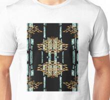 Metallic Blue & Gold Pattern Unisex T-Shirt