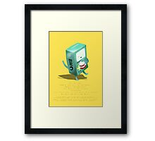 Oh BMO, how'd you get so pregnant? Framed Print