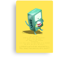 Oh BMO, how'd you get so pregnant? Canvas Print