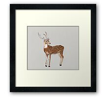 Nursery art - Deer that turns wishes Framed Print