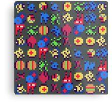 Pixel Mush Metal Print