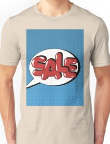 Bubble with Expression Sale in Vintage Comics Style Unisex T-Shirt