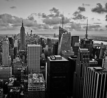 Empire State Building B+W by Mike Garner