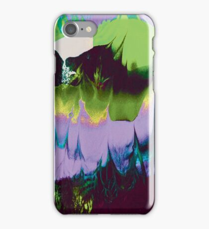Dreaming of Color (Monoprint in Green & Purple) iPhone Case/Skin