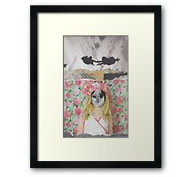 Owl Face Framed Print