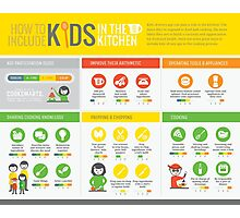 Cook Smarts' How to Involve Kids in the Kitchen Infographic Photographic Print