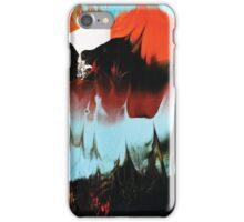 Dreaming of Color (Monoprint in Orange & Blue) iPhone Case/Skin