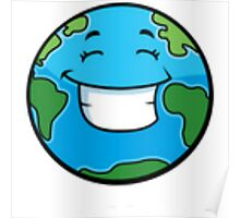 Smiling Planet Poster