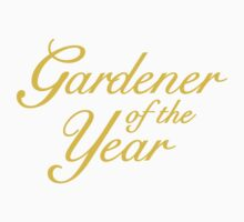 Gardener of the Year (Yellow) Kids Clothes
