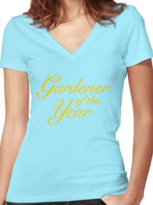 Gardener of the Year (Yellow) Women's Fitted V-Neck T-Shirt