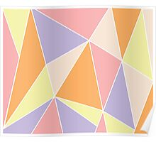 Candy triangles Poster